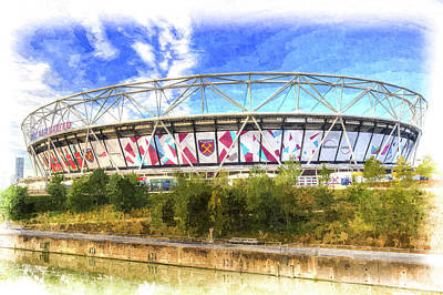Photograph - West Ham Olympic Stadium London Art by David Pyatt