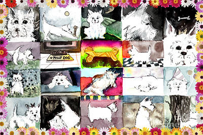 West Highland Terrier Print by Mindy Newman