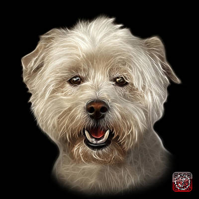 Mixed Media - West Highland Terrier Mix - 8674 - Bb by James Ahn