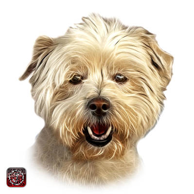 Maltese Mixed Media - West Highland Terrier Mix - 8674 - Wb by James Ahn