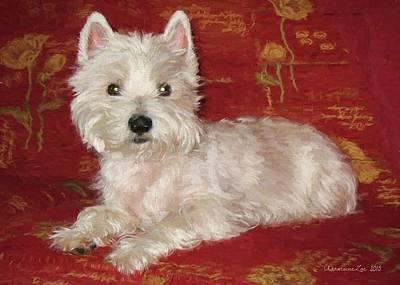 Westie Digital Art - West Highland White Terrier 2 by Charmaine Zoe
