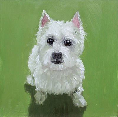 Painting - West Highland Terrier by Gilles Lafond