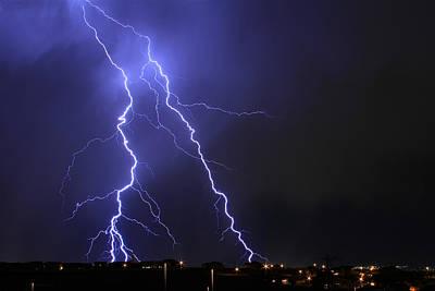 Photograph - West Jordan Lightning 1 by Paul Marto