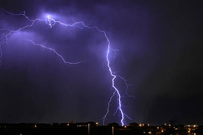 Photograph - West Jordan Lightning 3 by Paul Marto