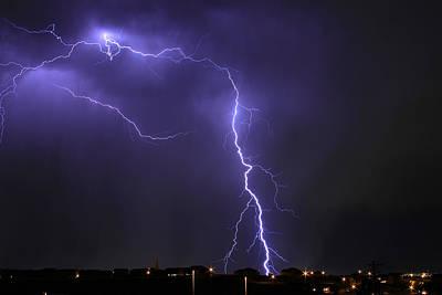 Photograph - West Jordan Lightning 3 by Paul Marto