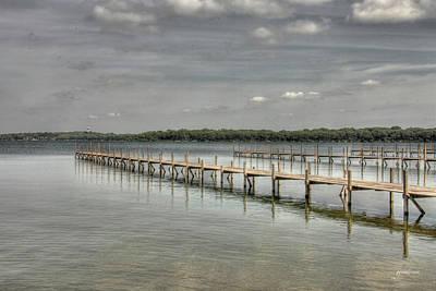 West Lake Docks Print by Gary Gunderson