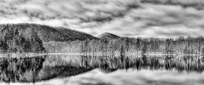 Winter Scene And Lake Photograph - West Lake Reflections by David Patterson
