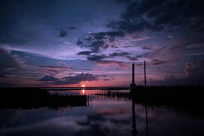West Lake Toho Blu Indigo Sunset Art Print