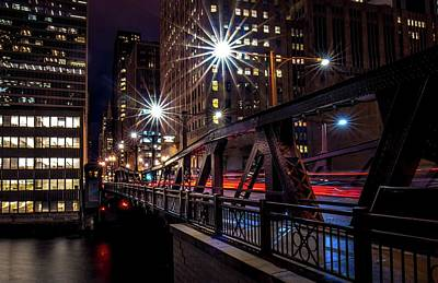 Photograph - West Madison Bridge Chicago by Linda Unger