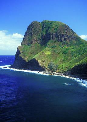 Photograph - West Maui Ocean Cliff by John Burk