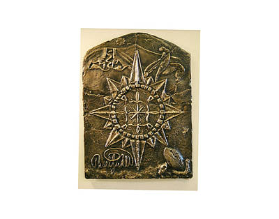 West Meets Southwest Compass Rose Art Print by Thor Sigstedt