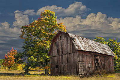 Photograph - West Michigan Barn In Autumn by Randall Nyhof
