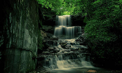 Photograph - West Milton Falls Grunge by Dan Sproul