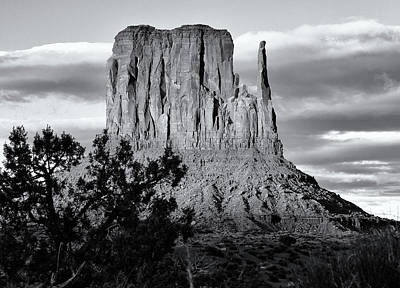 Photograph - West Mitten Butte Black And White by Nicholas Blackwell