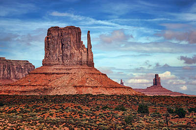 Photograph - West Mitten Butte - Monument Valley - Arizona by Nikolyn McDonald
