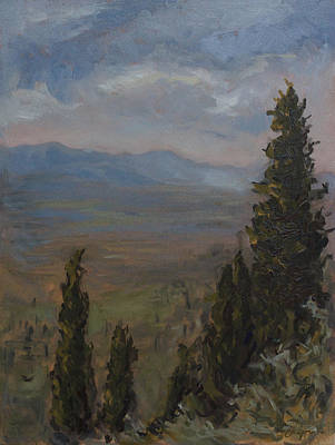 Painting - West Of Florence by Chapman Hamborg