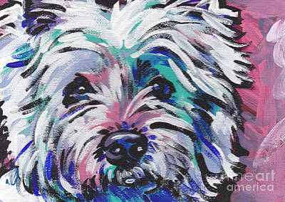 Westie Terrier Painting - West Of The Wall by Lea S