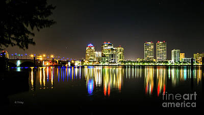 Photograph - West Palm Beach Downtown Panoramic by Rene Triay Photography