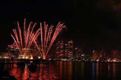 Key West Photograph - West Palm Beach Sunfest Fireworks 6 by Ken Figurski