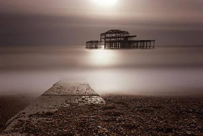 Photograph - West Pier Brighton Iv by Angela Devaney