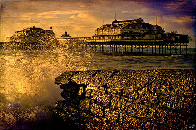 Photograph - West Pier Splash by Chris Lord