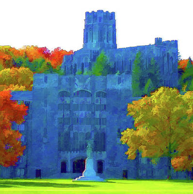 Mixed Media - West Point Academy by DJ Fessenden
