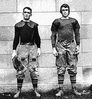 Mullin Painting - West Point Football Players Charles Love Mullins Jr. And Joseph Pescia Sullivan, 1913.  by Celestial Images