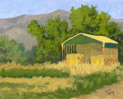 Shed Painting - West Point Hay Shed by David King