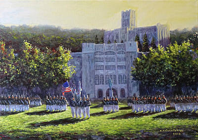 Painting - West Point Parade by Valentin Katrandzhiev