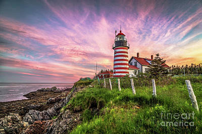 Quoddy Photograph - West Quoddy Head Light by Benjamin Williamson