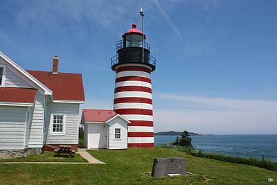 Photograph - West Quoddy Head Light by John Meader