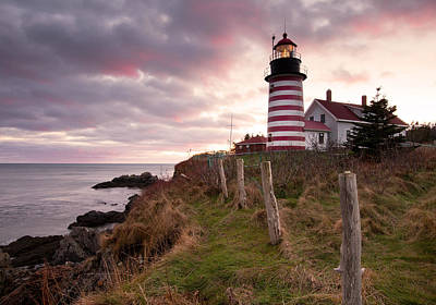 West Quoddy Head Light Art Print by Patrick Downey