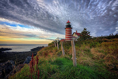 Quoddy Photograph - West Quoddy Head Light Station by Rick Berk