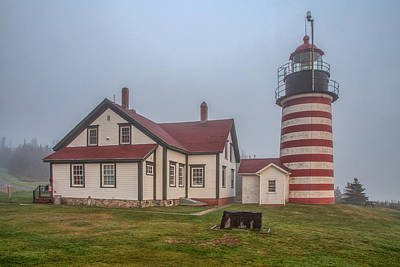 West Quoddy Head Lighthouse Photograph - West Quoddy Head Light by Tom Weisbrook