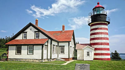 Photograph - 1858 West Quoddy Head Lighthouse   -   Westquoddylighthouse170721 by Frank J Benz