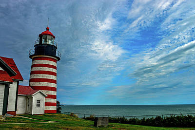 Photograph - West Quoddy Head Lighthouse In Maine by Marilyn Burton
