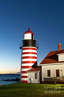 West Quoddy Head Lighthouse Maine Art Print by John Greim