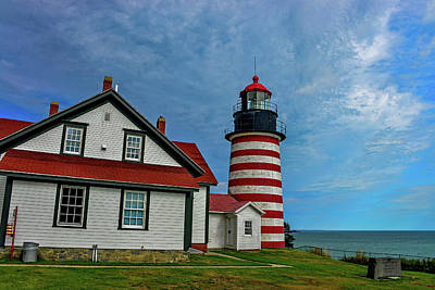Photograph - West Quoddy Head Lighthouse, Maine by Marilyn Burton