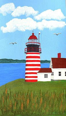 Painting - West Quoddy Head Lighthouse Painting by Frederic Kohli