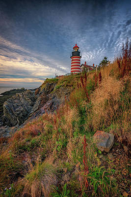 Quoddy Photograph - West Quoddy Head Lighthouse by Rick Berk