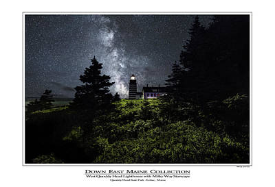 Photograph - West Quoddy Head Lighthouse With Milky Way Starscape 2 by Marty Saccone