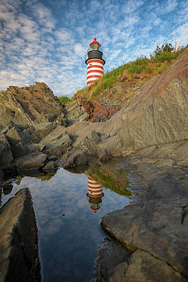 Photograph - West Quoddy Head Reflections by Rick Berk
