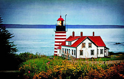 Photograph - West Quoddy Lighthouse At Dusk by Carolyn Derstine