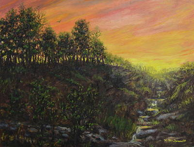 Painting - West Ridge Sundown by Kathleen McDermott