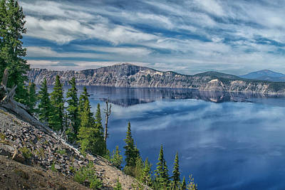Photograph - West Rim Of Crater Lake by Frank Wilson