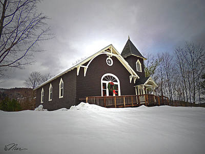 Photograph - West Rumney Community Church by Nancy Griswold