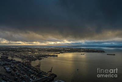 Photograph - West Seattle Water Taxi Heading Out by Mike Reid