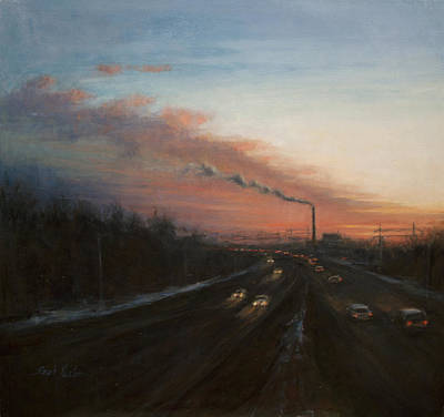 Painting - West Shore Expressway by Sarah Yuster