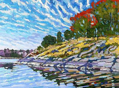 Conveyor Belt Painting - West Shore by Phil Chadwick