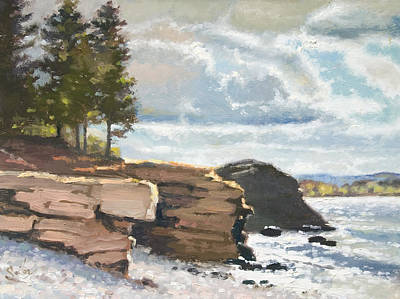 Painting - West Shores Presque Isle by Larry Seiler